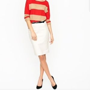J. Crew White Cream No. 2 Pencil Skirt
